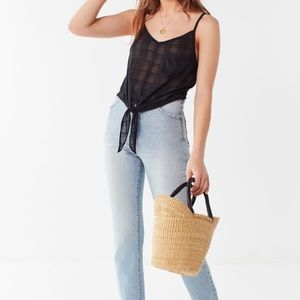 Urban Outfitters | Quinn Tie-Front Cami Black